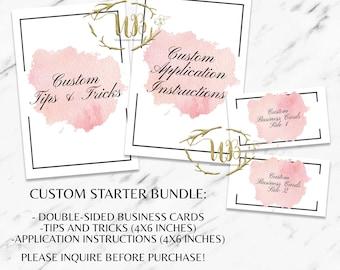 Custom Starter Bundle|LipSense|LipSense Distributor|Branding|Marketing|LipSense Cards|LipSense Printables|Custom Branding|SeneGence|Makeup