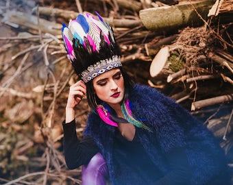 Color Indian headband