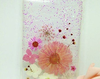 iPhone 7 plus/8 plus case with nature pressed dried flower