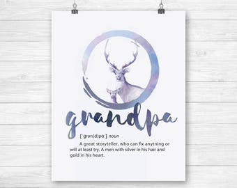 Grandfather print, grandpa gift, grandpa prints, gifts for grandpa birthday, gifts for papa, best grandpa printable, papa birthday gift