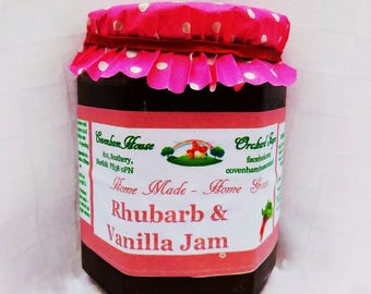 Home Made Rhubarb & Vanilla Jam 300g jar FIXED UK SHIPPING buy as many jars as you like from our shop and pay just 3.80 delivery