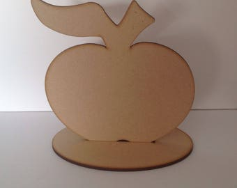 10 x Wooden Apple With Stand
