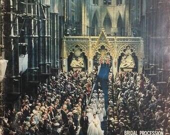Life Magazine May 16, 1960 Bridal Procession Leaves The Abbey // Royal Wedding // vintage magazine // vintage British // vintage ephemera