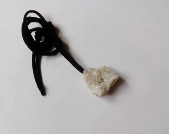 Druzy Quartz pendant necklace - yoga shaman druid pagan faery crystals magical witch jewellery rocks