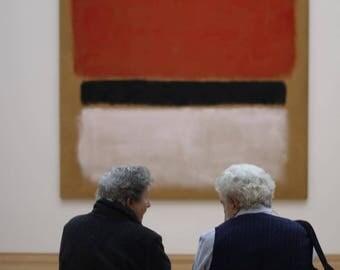 Elderly Couple Discuss Rothko