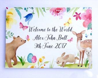 New Baby Birth Details Wall decor