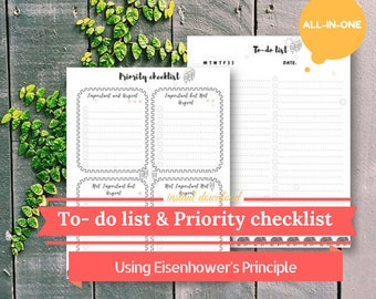 To do list printable, To-do list planner, To do list planner, To do pages, To- do list notepad, To-do list, Letter/ Half Letter/ A4/ A5 Size