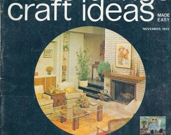 Summer Sale Decorating & Craft Ideas  Made Easy Magazine November 1973