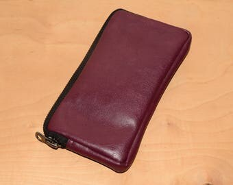 Burgundy phone wallet, all-in-one case