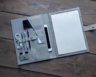 Leather iPad Accessory, iPad Case, iPad Cover, Leather Folder, Leather Business Folder, Gift for Business Travelers, Folio, FREE MONOGRAM