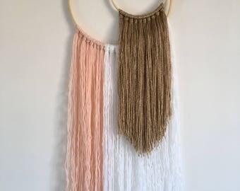 Handmade, double hoop dreamcatcher