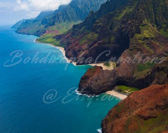 Landscape Photography, Hawaiian Island of Kauai, Napali Coast Wall Art in Canvas, Metal, and Photo Print