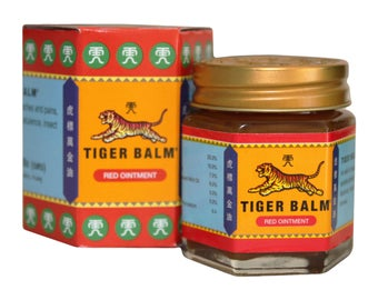 Red or white tiger balm. Choice of 30g, 19.4g or 10g. Shipping by airmail