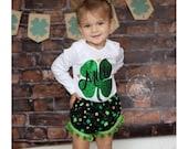 Baby Girls Personalized Saint Patricks Day Onesie, Shamrock Onesie, Saint Patricks Day Shirt, St Pattys Day Onesie, Toddler St Patricks Day