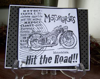 Motorcycle Birthday Card