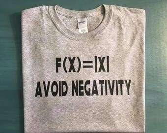 avoid negativity tee, math geek, teacher, science, team spirit, school colors, pun, high school drama