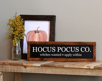 Hocus Pocus Sign / Halloween Wood Sign / Halloween Decor / Farmhouse Halloween Decor / Fall Wood Decor / Halloween Sign / Fall Wood Sign