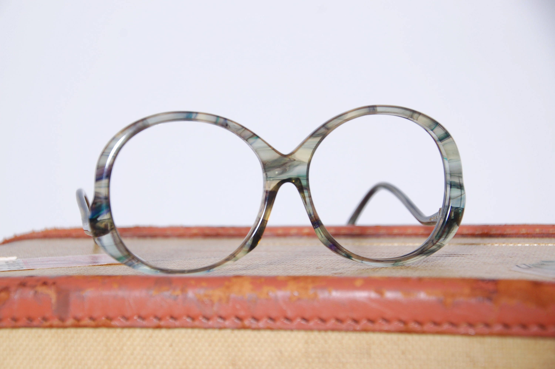 Vintage 70s Italian eyeglass frames / Tura watercolor eyeglasses ...