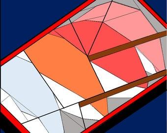 Sushi with chopsticks paper pieced quilt block pattern PDF