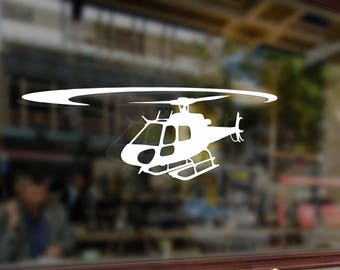 Helicopter AS350 Eurocopter Vinyl Stickers Funny Decals Bumper Car Auto Computer Laptop Wall Window Glass Skateboard Snowboard Helmet