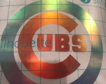 Chicago Cubs Halographic Vinyl Decal