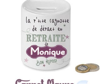 """retirement - gift idea piggy bank """"p' little pot of..."""""""