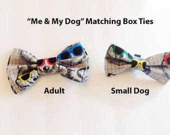 Bow Tie, Mens Bow Tie, Dog Bow Ties, Matching Dog Bow Tie, Dad and Son Bow Tie,  Valentines Bow Tie, Dog Bowtie, Bowtie, Boys Bow Tie  DS752