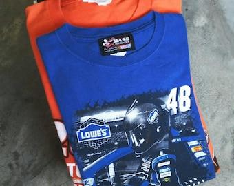 Lot 20 nascar t shirt + 1 free gift nascar t shirt