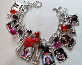 Tom Petty and The Heartbreakers Charm Bracelet Necklace