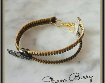 Minimal chic bracelet with zipper