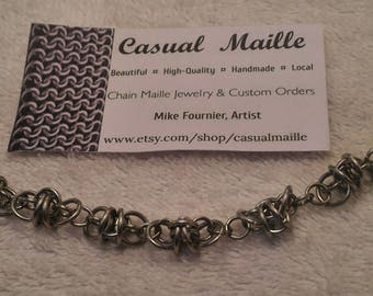 """Barb Wire Bracelet 7""""-8"""" (Small Barbs)"""