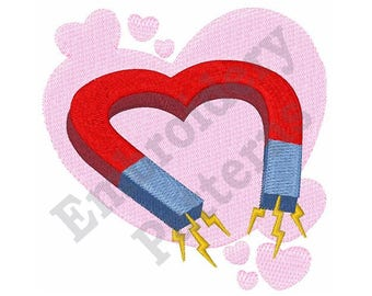 Valentine Magnet - Machine Embroidery Design