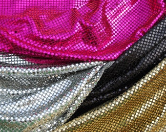 Printed sequined jersey Fabric
