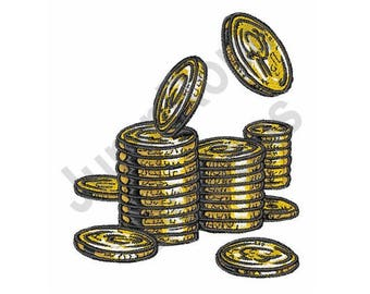 Gold Coins - Machine Embroidery Design