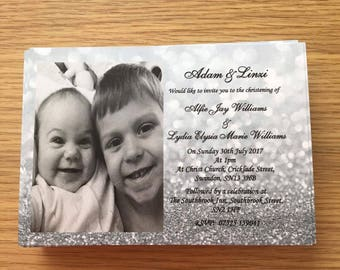 Christening Invitations pack of 100 plus envelopes