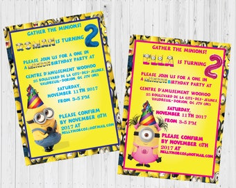 Minion Invitation, Minion Party, Minion Birthday Invitation, Minion Birthday Party, Boy Girl Minion Invitation - Digital, Printable.