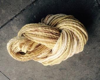 Art yarn, hand spun, handmade wool, yarn, merino wool, sheep wool, natural wool, vintage, BOHO 100g