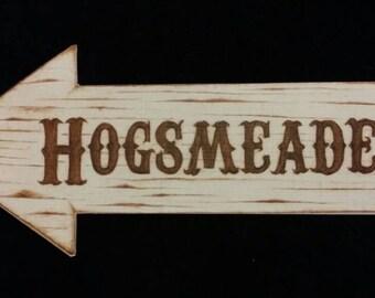 Hogsmeade Arrow Sign Art PRINT