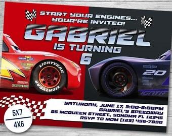 Cars Invitation Cars 3 Invitations Cars 3 Birthday Cars 3