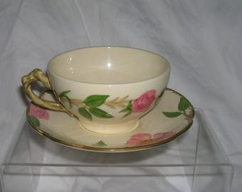 Vintage FRANCISCAN Desert Rose Cup and Saucer Set   Total of 12 available