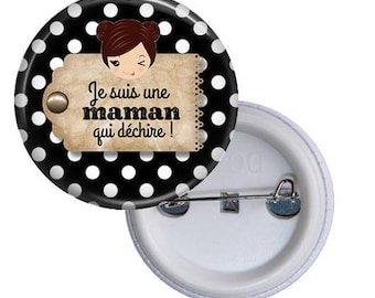 Badge MOM gift idea mothers day @8
