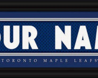Toronto Maple Leafs Jersey Stitch Personalized Print - NHL - Framed