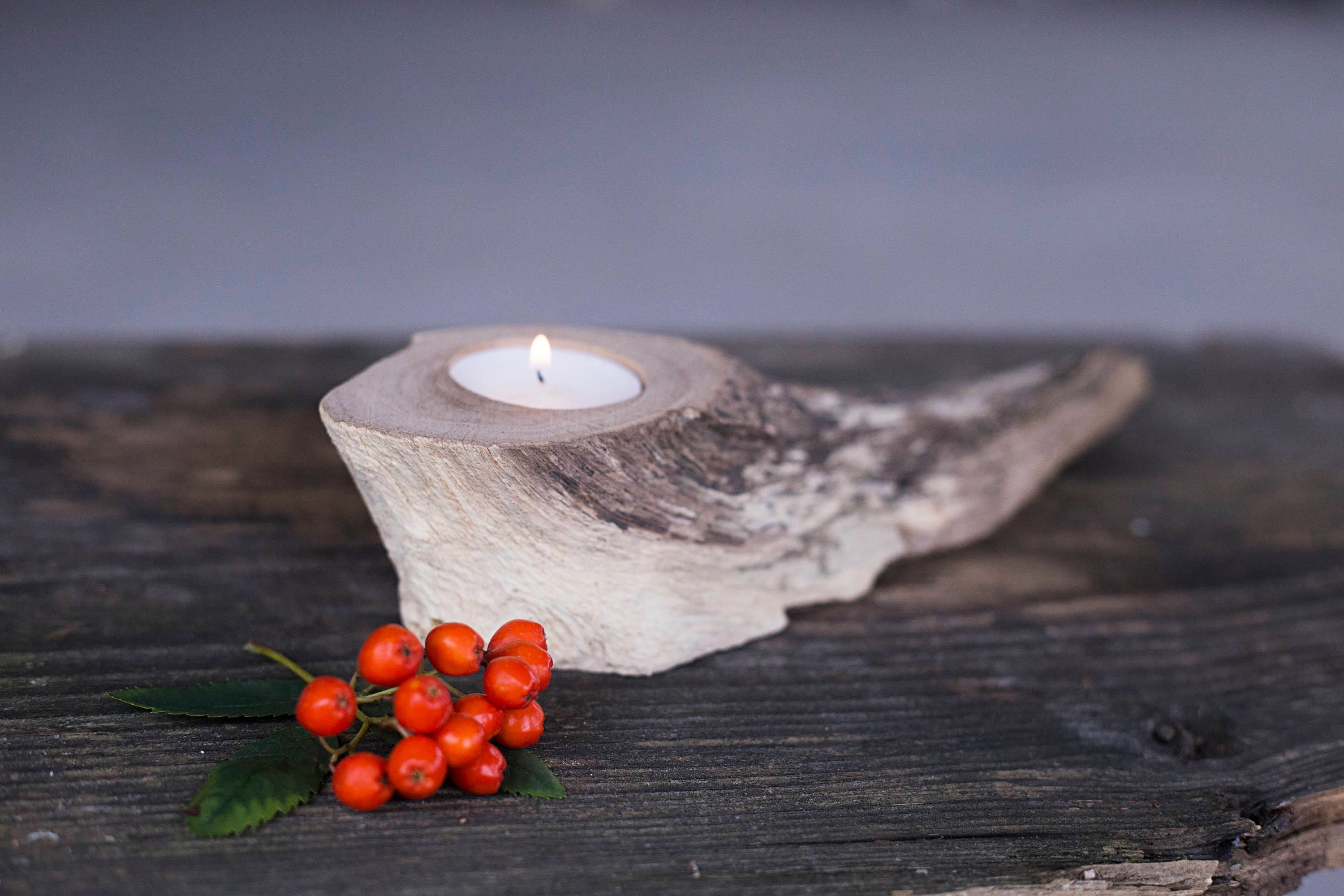Rustic Candle Holder Tea Light Holder Wooden Table Decor Rustic