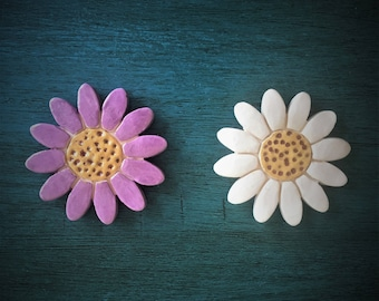 Ceramic Flower Magnet