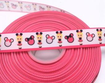 Minnie Girl 7/8 22mm Grosgrain Ribbon per  Meter