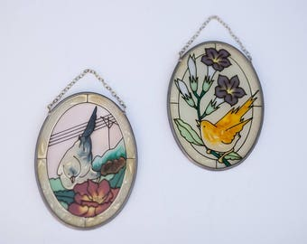 Beautiful Mini Hanging Stained Glass Birds