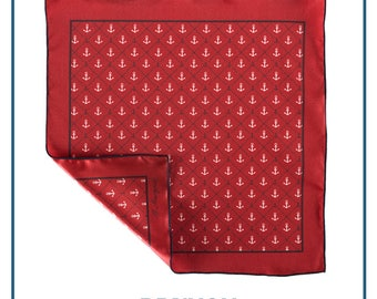 "Pocket square ""Anchors"""