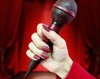 Chocolate Microphone music lover music gifts girls birthday karaoke party gift music DJ prop mic singing party singer gift vocalist pop band