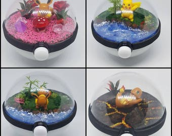 Medium Pokeglobe Custom 80mm - Pokemon Terrarium