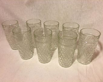 Set of 8 Vintage Jelly Glass Tumblers